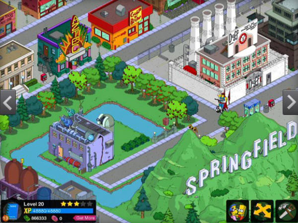 The Simpsons: Tapped Out - Ricostruisci Springfield su iOS