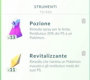 Come far recuperare salute ai Pokemon in Pokemon Go