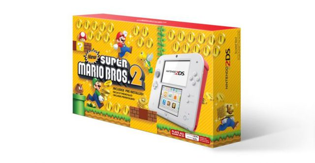 Nintendo 2DS: annunciato bundle con New Super Mario Bros. 2