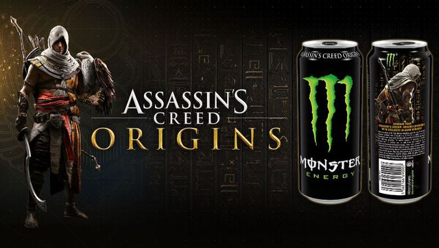 Assassin's Creed Origins: annunciata partnership con Monster Energy